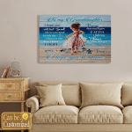 To My Granddaughter Beach Dancing Canvases Pictures Posters Puzzles Shower Curtains Blankets Quilts