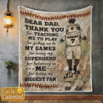 Baseball Dad And Son Thank You (Father's Day Gifts, Canvases, Posters, Pictures, Puzzles, Quilts, Blankets, Shower Curtains)