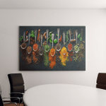 Kitchen Spices Wall Art (Canvases, Pictures, Puzzles, Posters, Quilts, Blankets, Flags, Bath Mats)