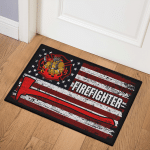 Firefighter Flag (Canvases, Posters, Pictures, Puzzles, Quilts, Blankets, Shower Curtains, Flags)