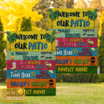 Personalized Family Name - Welcome To Our Patio Garden Flags (Party)