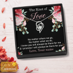 Personalized The Knot Of Love Gift From Boyfriend / Husband (Couple, Heart Necklace With Box)