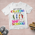Get Your Crayon (Vinyl Stickers, Shirts, Hoodies, Cups, Mugs, Totes, Handbags) Back To School