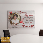 Personalized My Mind Still Talks To You Cardinal (Canvases, Pictures, Puzzles, Posters, Quilts, Blankets, Led Lamp, Stickers)