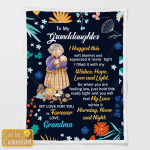 To My Granddaughter From Grandma (Quilts, Bedding Sets, Blankets)