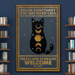 Salem Sanctuary Black Cat Wtch Halloween (Canvases, Posters, Pictures, Puzzles, Quilts, Blankets, Shower Curtains, Led Lamp, Stickers)