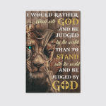 I Would Rather Stand With God Jesus (Christ - ChristiansCanvases, Posters, Pictures, Puzzles, Quilts, Blankets, Shower Curtains, Led Lamp, Stickers)
