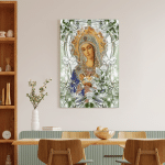 Mother Mary - Jesus (Christ - Christians, Canvases, Posters, Pictures, Puzzles, Quilts, Blankets, Shower Curtains, Led Lamp, Stickers)