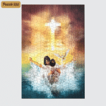 To A Peaceful Place (Jesus - Christ - Christians, Canvases, Posters, Pictures, Puzzles, Quilts, Blankets, Shower Curtains, Led Lamp, Stickers)