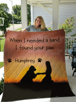 Personalized Quilts / Blankets I found Your Paw for Dogs Lovers