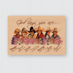 Cowboy Horse Girl Posters / Puzzles For Horses Lovers