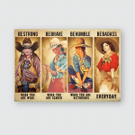 Cowboy Be Strong Posters / Puzzles For Horses Lovers