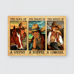 Cowboy Girl Horses Lovers Posters / Puzzles