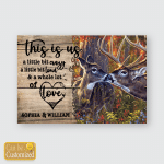 This Is Us Deer Couple Valentine Poster For Couples Husband Wife Boyfriend Girlfriend