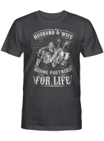 Riding Partners For Husband Wife Shirts Hoodies Cups Mugs Hand Bags Totes