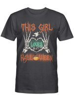 This Girl Loves Halloween Shirts Hoodies Cups Mugs Hand Bags Totes