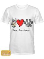 Personalized Shirts / Mugs Peace Love For Dog Lovers
