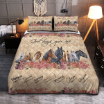 God Says You Are Unique Horses Lovers Quilts / Blankets / Shower Curtains