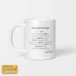 Stepped Up Dad - Mugs Cups For Step Dad