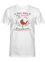A Big Piece Of My Heart Memory Memorial Loss For Ones In Heaven Shirts Hoodies Cups Mugs Hand Bags Totes