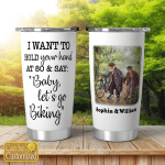 Personalized Image And Names Baby Let's Go Biking Tumblers Cycling - Cycle - Riding - Riders