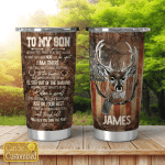 Personalized Tumbler To My Son Hunting