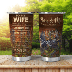 You And Me Shining Tumblers For Couples Hunting Lovers Wife Husband