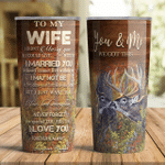 You And Me Deer Hunting Tumbler To Wife From Husband