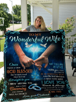 To My Wonderful Wife Blanket / Quilt From Husband / Couple / Family