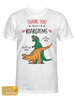 Personalized Thank You For The Roargasms Valentine For Couples / Girlfriend / Boyfriend / Wife / Husband