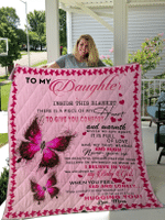 To My Daughter Blanket for Daughter