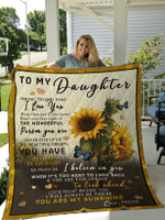 To My Daughter Sunflower Blanket for Daughter