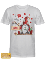 Personalized Name (Above 5 letters) I Love Being A Grandma Gnome Shirts / Mugs / Totes / Hand Bags For Grandparents