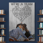 Horse Riding We're A Team Couples Husband Wife Boyfriend Girlfriend Canvas Posters Blankets Puzzles