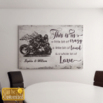 Personalized This Is Us Driving Skull Couple Canvas / Posters For Skull Lovers
