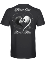 From Our First Kiss Girl Version Couple Skull Hoodies / Shirts / Mugs / Totes / Hand Bags For Skull Lovers