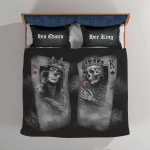 Skull Card Couple Bedding Sets / Quilts / Blankets / Shower Curtains For Skull Lovers
