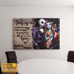 Personalized This Is Us Skull Couple Canvas / Posters For Skull Lovers Valentine Gifts For Girlfriend / Boyfriend / Wife / Husband