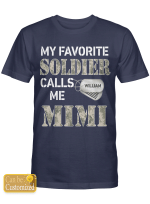Personalized Soldier Mimi Grandma Grandmother Grandparents Shirts Hoodies Cups Mugs Hand Bags Totes