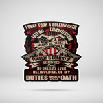 Shirts Hoodies Cups Mugs Totes Hand Bags For Veterans Army Solemn Oath