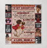 To My Daughter Afro Girl Quilts / Blankets /Canvas / Posters / Puzzles