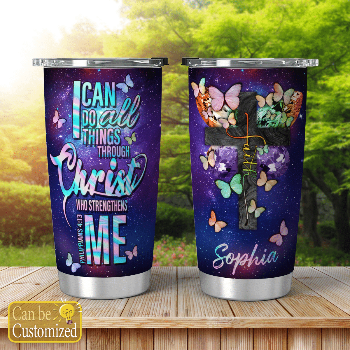 Personalized I Can Do All Things Through Christ Jesus Tumblers Christ Christian