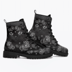 Black Cat Leather Boots