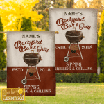 Personalized BBQ Flag
