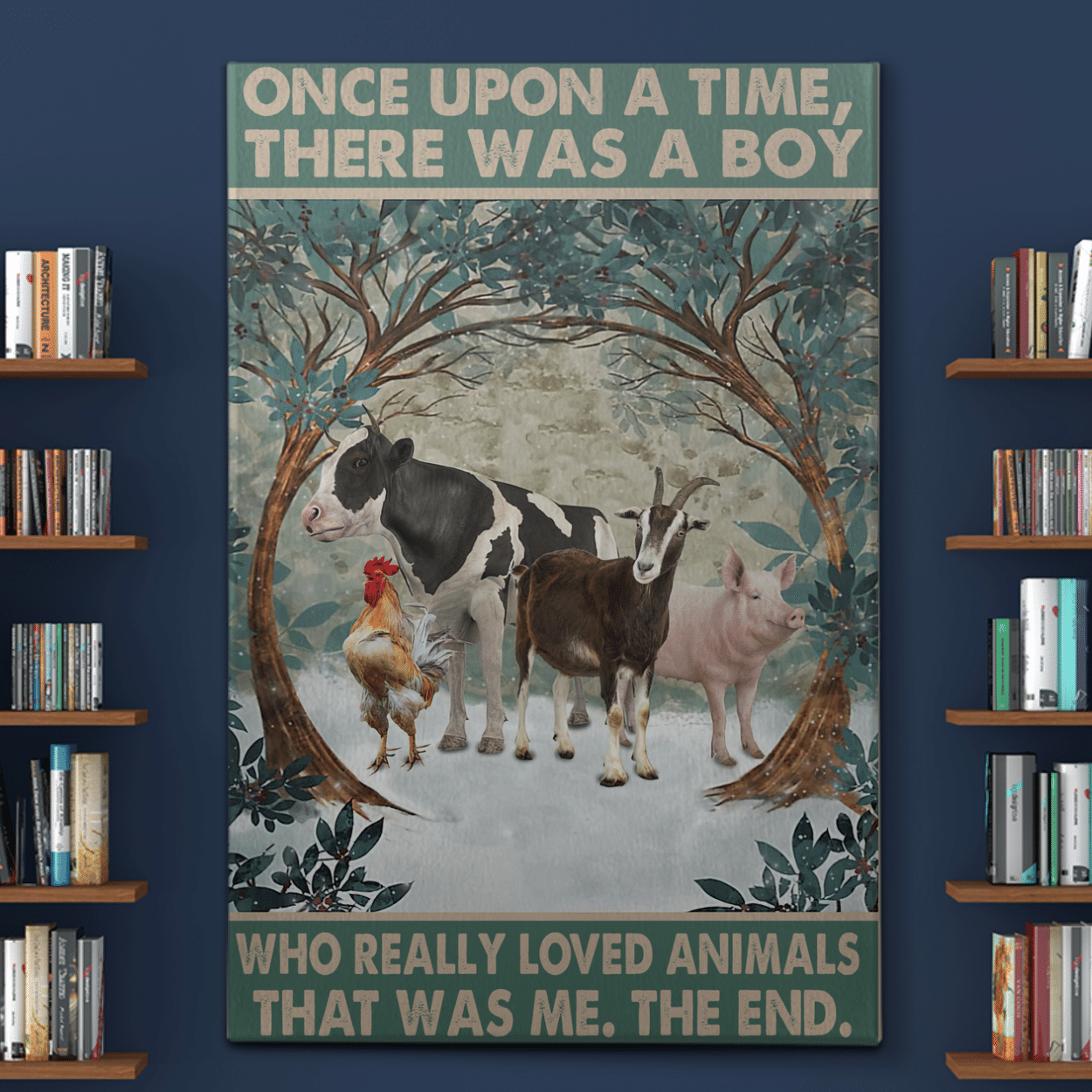 There Was A Boy - Animal Care Canvas / Posters / Puzzles