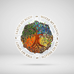 Four Elements AccordingTo The Eastern Philosophy Stickers Shirts - Hippie