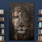 Jesus And Lion Canvas Posters Puzzles Blankets Christ Christian