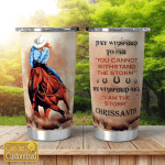 Cowgirls Cowboys Personalized Tumblers Cups Horses I Am The Storm