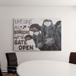 Live Like Someone Left The Gate Open Cow And Farm - Farming Canvases / Posters / Quilts / Blankets / Puzzles /Mouse Pads / Doormats
