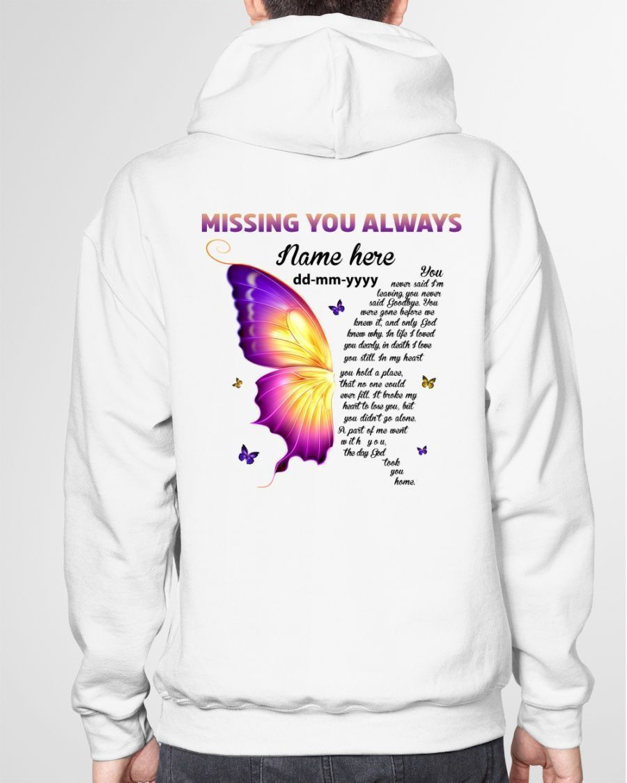 Missing You Always Memory Memorial Loss For Ones In Heaven Shirts Hoodies Mugs Cups Totes Handbags Posters Puzzles